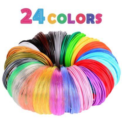 3D Pen/3D Printer Filament Pack of 24 Different Colors